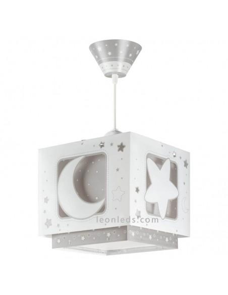 Lampara de techo Infantil MoonLight Gris 63232E de Dalber | LeonLeds Iluminación