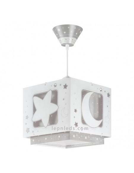 Lampara de techo Moon Light de Dalber Gris 63232E | LeonLeds Iluminación