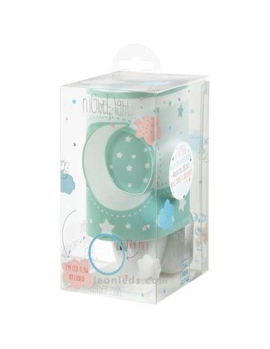 Lámpara de Techo Infantil Serie Moon Light Dabler 3 Luces Azul Lunas y Estrellas 63233T | LeonLeds Iluminación