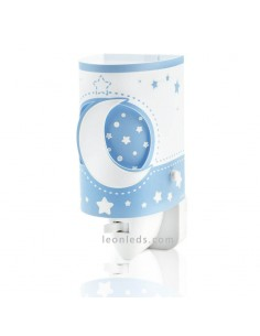 Quitamiedos LED o Luz de Noche Infantil Moon Light Dabler Color Azul luce por la noche 63235LT | LeonLeds Iluminación