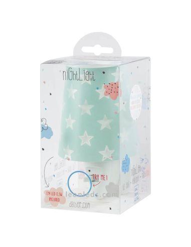 Quitamiedos LED para enchufe con estrellas de diseño infantil de la serie Stars de Dalber de color Verde | LeonLeds Iluminación
