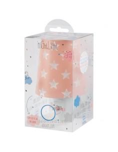 Quitamiedos LED para enchufe con estrellas de diseño infantil de la serie Stars de Dalber de color Rosa | LeonLeds Iluminación
