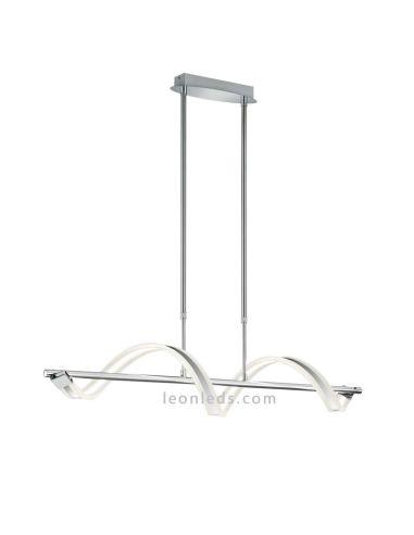 Lámpara de techo LED de diseño moderno y vanguardista serie Sydney de Trio Cromada   LeonLeds Iluminación