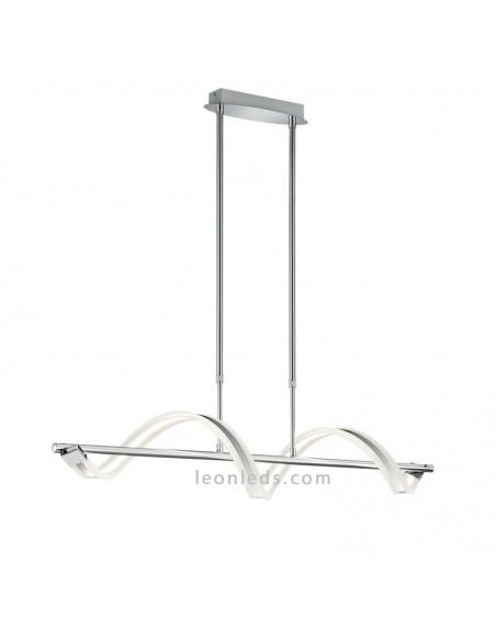 Lámpara de techo LED de diseño moderno y vanguardista serie Sydney de Trio Cromada | LeonLeds Iluminación