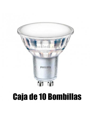 Bombilla LED GU10 Regulable Dicroica 7W de Philips Master LEDSpot Mv Value alto Flujo 6400k | LeonLeds Iluminación
