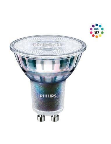 Bombilla LED GU10 Dicroica con alto Indice de reproducción Cromatica | Philips Master LED Expert Color | LeonLeds Iluminación