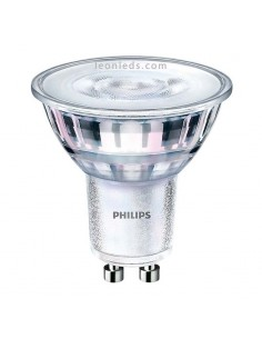 Bombilla LED Philips GU10 de Cristal | Bombilla Halógena LED Philips CorePro LEDspot MV | LeonLeds Iluminación
