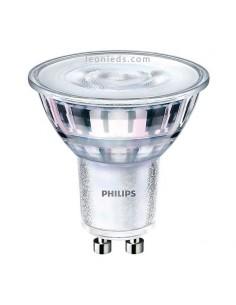 Bombilla LED Philips GU10 de Cristal 65w | Bombilla Halógena LED Philips CorePro LEDspot MV | LeonLeds Iluminación