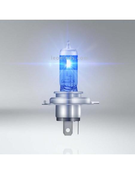 Bombillas H4 Cool Blue Boost para vehículos de 12V +50% de luz hiper azul 5000K Osram | LeonLeds Iluminación