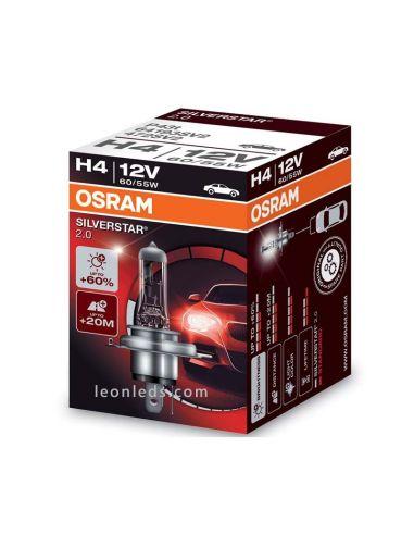 Bombilla H4 Faro Principal para vehículos de 12V +60% Osram - 1 Unidad al mejor precio | LeonLeds Iluminación
