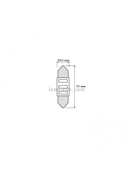 Bombilla LED Festoon C5W 31mm Osram Standard 6000K (1Uds)   LeonLeds Iluminación
