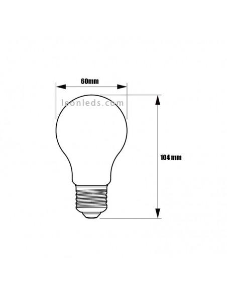 Bombilla Led Philips E27 A60 -5W- Filamento | Bombilla LED A60 Vintage Philips LedBulb Clásica| LeonLeds Iluminación