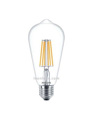 Bombilla Edison Led E27 -7.5W- Filamento | Bombilla LED Edison Philips LedBulb | LeonLeds Iluminación