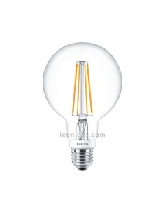 Bombilla LED Globo G93 de filamento Philips LEDGlobe regulable 7W de Cristal | LeonLeds Iluminación