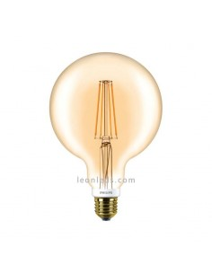 Bombilla Globo Gold Led E27-G120-7W- | Bombilla Globo G120 Gold Oro LED Vintage | LeonLeds Iluminación
