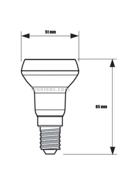 Bombilla Led Philips E14 R50 -5W- CorePro | Bombilla LED R50 E14 | Bombilla Reflectora LED R50 | LeonLeds Iluminación