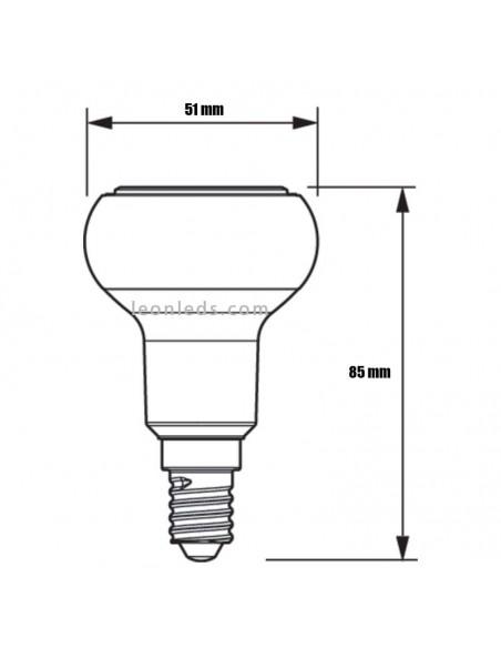 Bombilla LED Reflactora R50 E14 de Philips | Bombilla de LED Philips R50 | LeonLeds Iluminación