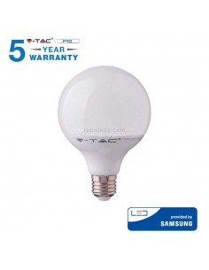 Bombilla LED E27 G120 -17W- 4000K Globo 200º Vtac Pro 227 al mejor precio   LeonLeds Iluminación
