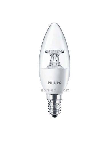 Bombilla Vela LED decorativa de 4W | Philips CorePro LEDVela Clara decorativa | LeonLeds Iluminación