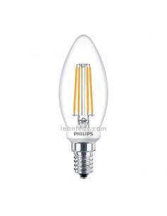 Bombilla LED de Filamento Philips E14 | Bombilla LED vela de Filamento 5W | LeonLeds Iluminación