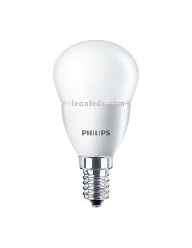 Bombilla LED Philips E14 P45 Esferica | Bombilla LED Esferica P45 Philips 7w Potente | LeonLeds Iluminación