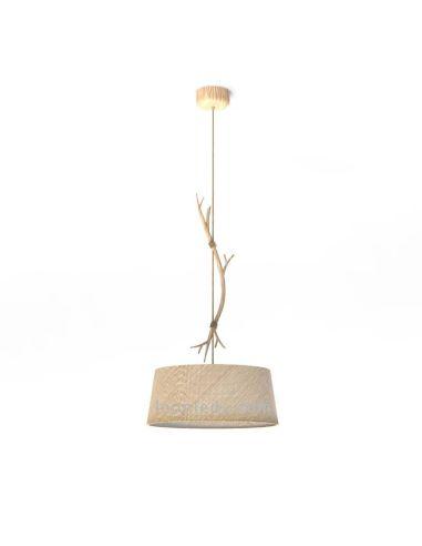 Lámpara Colgante de Techo Rústica Serie Sabina 1L Ø60CM grande de Mantra | Leonleds Iluminación
