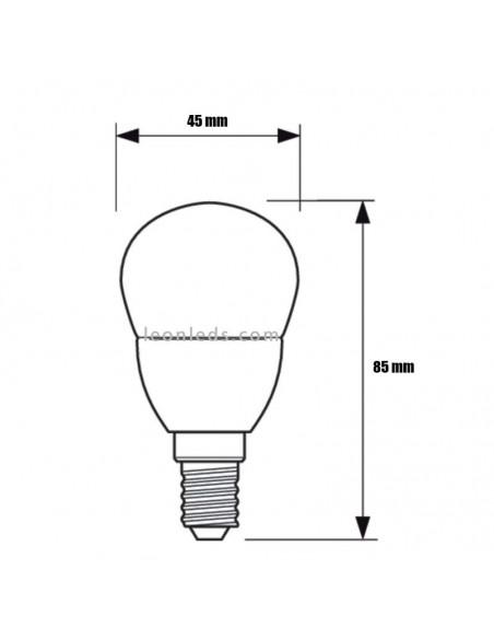 Bombilla LED Philips E14 P45 5,5W | Bombilla LED Esférica P45 E14 Philips | LeonLeds Iluminación