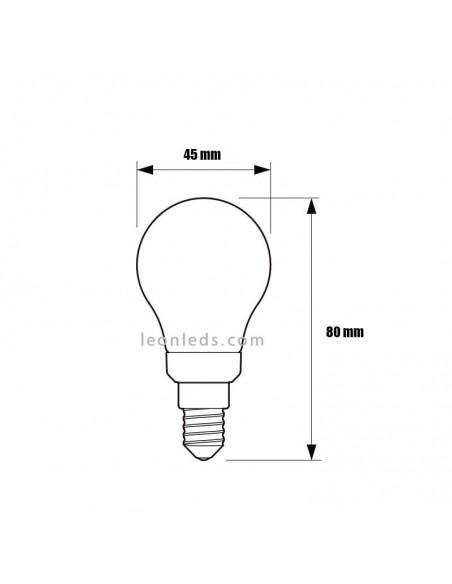 Bombilla LED Esferica Mate clasica de Philips | Bombilla P45 Esferica LED de Philips mate | LeonLeds Iluminación