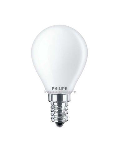 Bombilla LED Esferica Mate clasica de Philips   Bombilla P45 Esferica LED de Philips mate 4.3W 40W   LeonLeds Iluminación