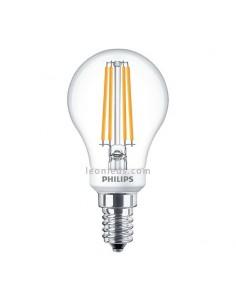 Bombilla LED Esferica Regulable clasica  Bombilla P45 Esferica LED de Philips Vintage 4.3W 40W   LeonLeds Iluminación