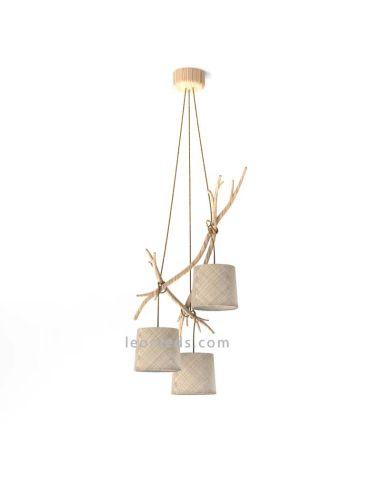 Lámpara Colgante de Techo Rústica Serie Sabina 3L de Mantra al mejor precio | LeonLeds Iluminación