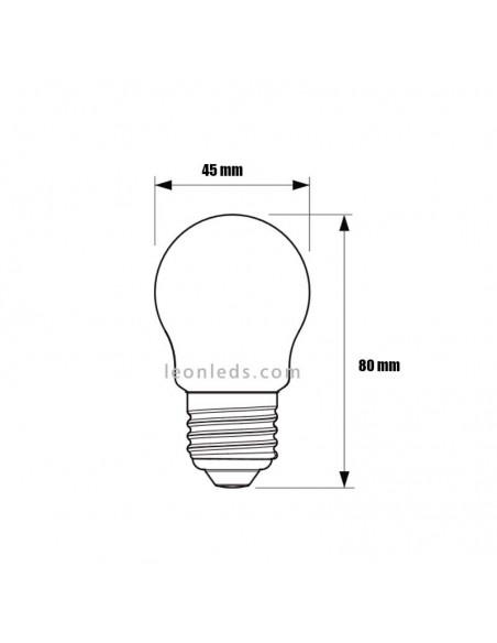 Bombilla LED Esferica E27 Clasica Mate de Philips | Philips LED Esferica 2.2W equivalente a 25W Cristal | LeonLeds