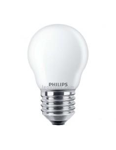 Bombilla LED Esferica E27 Clasica Mate de Philips | Philips LED Esferica 4.3W equivalente a 40W | LeonLeds