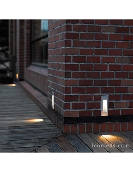 Baliza para exterior LED Dambel Antracita de Dopo | Baliza empotrable LED para exterior rectangular | LeonLeds Iluminación