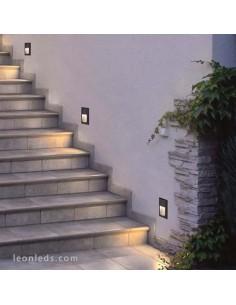 Baliza para exterior gris antracita LED Dopo | Baliza empotrable LED Gris para exterior rectangular de Dopo | LeonLeds Iluminaci