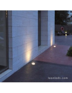 Foco LED Glass de Dopo | Foco empotrable exterior LED Acero Inoxidable | LeonLeds Iluminación