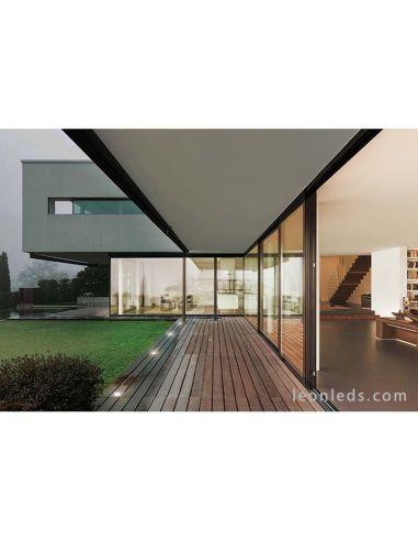 Foco LED Glass de Dopo   Foco empotrable exterior LED Acero Inoxidable cuadrado   LeonLeds Iluminación