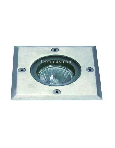 Foco empotrable suelo para exterior de acero Inox cuadrado| Foco empotrable Dopo modelo Bora | LeonLeds Iluminación