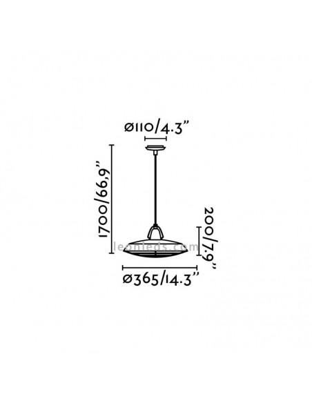 Lámpara de Techo Exterior 15W IP44 Serie Plec Simple Marrón Envejecido de Faro Barcelona | LeónLeds Iluminación