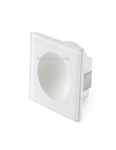 Baliza LED Empotrable para exterior Blanco 3W 3000K Galo de Faro | Baliza empotrable LED jardín Blanca | LeonLeds Iluminación