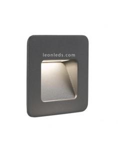 Aplique Empotrable LED Jardín cuadrado Blanco Nase 3W 3000K | Baliza LED Empotrable Blanca | LeonLeds Iluminación