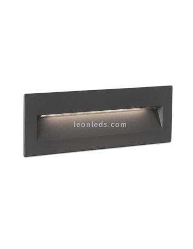 Empotrable LED Exterior rectangular Gris Oscuro 6W 3000K Nat | Baliza LED empotrable | LeonLeds Iluminación