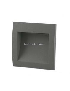 Empotrable LED Exterior cuadrado Gris Sedna 1 | Baliza LED empotrable cuadrada moderna | LeonLeds Iluminación