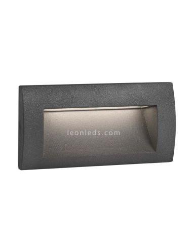 Empotrable LED Exterior rectangular Gris Sedna 2 | Baliza LED empotrable cuadrada moderna | LeonLeds Iluminación