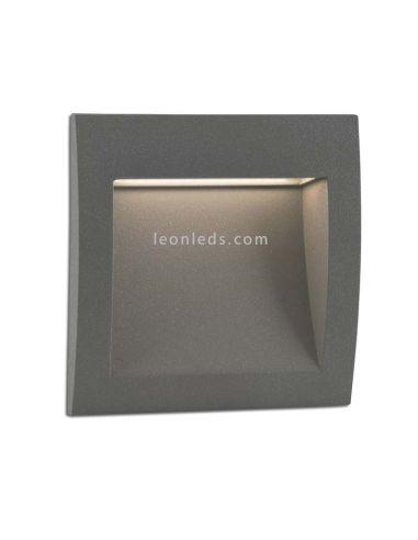 Empotrable LED Exterior rectangular Gris Sedna 3 | Baliza LED empotrable cuadrada moderna | LeonLeds Iluminación
