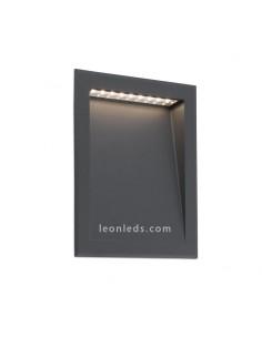Empotrable LED exterior moderno Grande Gris Soun| Baliza LED empotrable Jardín Barata | LeonLeds Iluminación