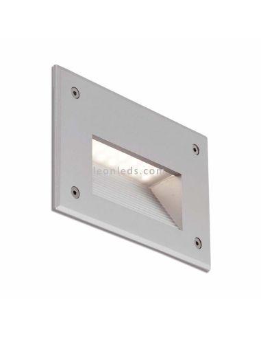 Empotrable LED exterior Gris claro Store | Baliza LED empotrable Jardín Barata rectangular de faro | LeonLeds Iluminación