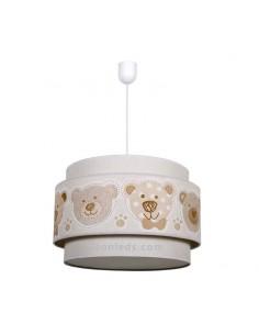 Lámpara Infantil de techo serie Panda Beis 35Cm 1XE27 | Lámpara infantil de techo barata beis | LeonLeds Iluminación