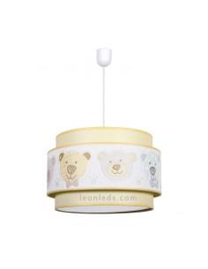 Lámpara Infantil de techo serie Panda Amarilla 35Cm 1XE27 | Lámpara infantil de techo barata Camel | LeonLeds Iluminación