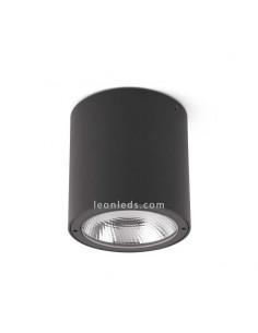 Plafón de Techo LED para exterior GOZ 8W Gris Oscuro IP54e aluminio y cristal de Faro Barcelona | Leonleds Iluminación